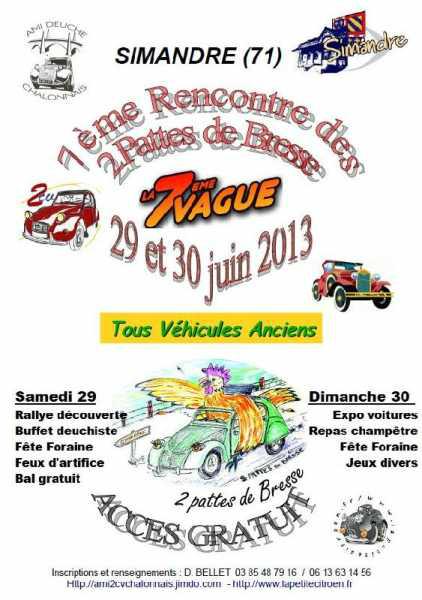 Les 29 et 30 juin 2013 : Septième rencontre des 2 Pattes de Bresse (01)