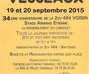 Week-end 2CV 4×4 Voisin à Vesseaux (Ardèche)