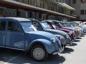 2cv de l'exposition Citroën & Panhard de Pelussin