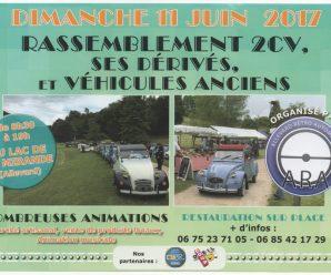 2 CV, dérivés et véhicules anciens au Lac de la Mirande