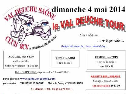 Le Rallye 2014 du Val Deuche Saône