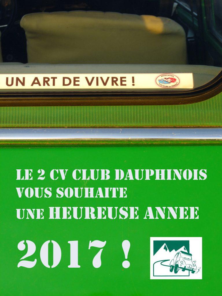 carte de voeux 2017 du 2 CV Club Dauphinois
