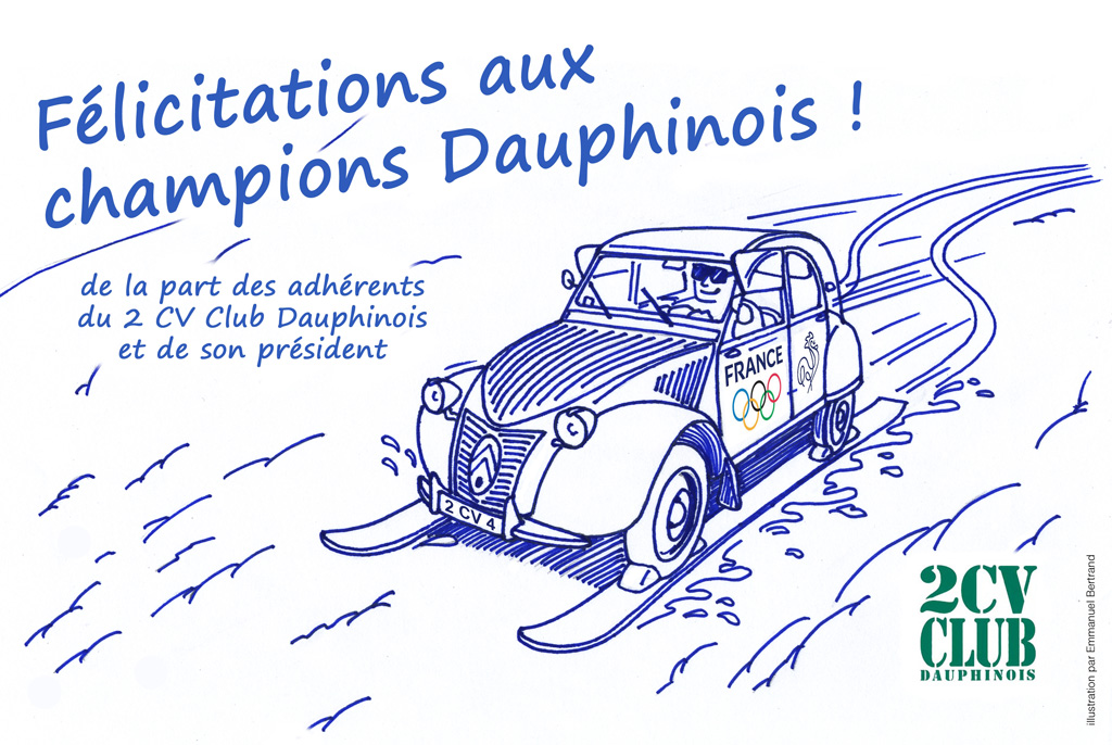 Nos félicitations aux champions olympiques Dauphinois