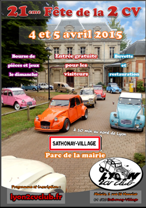 21ème Fête de la 2 CV à Sathonay Village