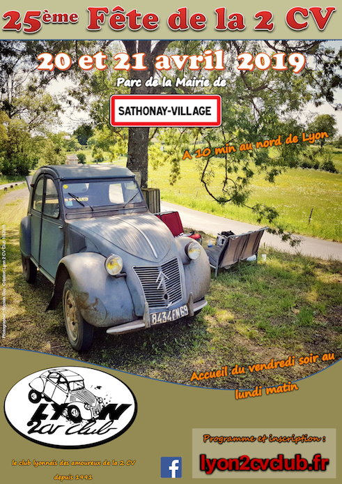Fête de la 2 CV 2019 à Sathonay-Village