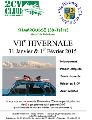 «L'HIVERNALE 2015»