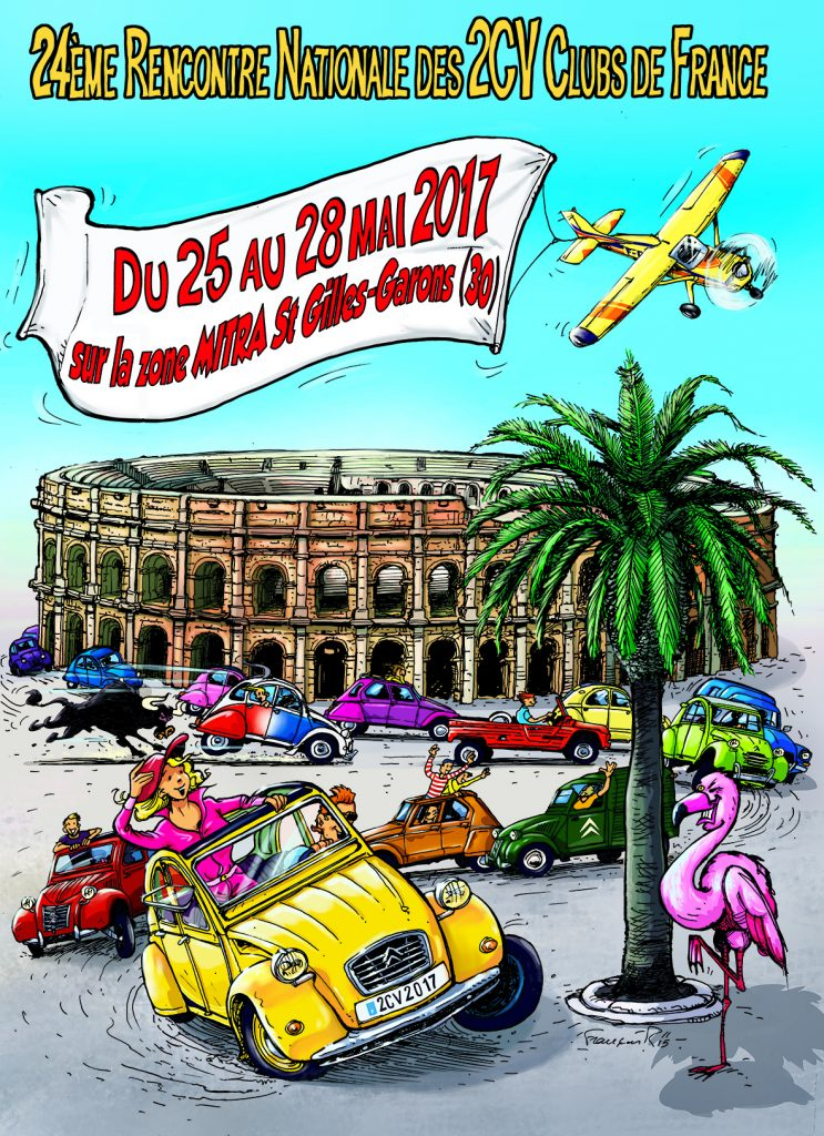 affiche Nationale 2CV Nîmes 2017